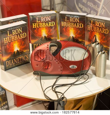 Dianetics Books On Display At Tempo Di Libri In Milan, Italy