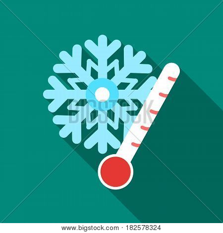 Frost icon in flate style isolated on white background. Weather symbol vector illustration.