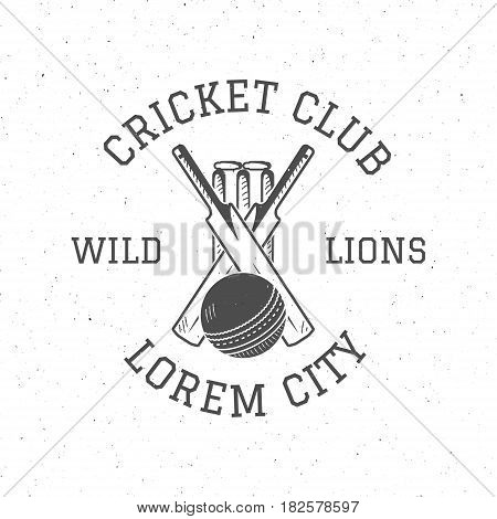 Retro cricket club logo icon design. Vintage Cricket emblem. Cricket badge. Sports tee design and symbols with cricket gear, equipment for web or t-shirt print.