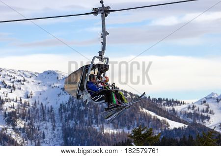 Ski Lift Austria Alps