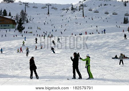 Ski Piste Austrian Alps