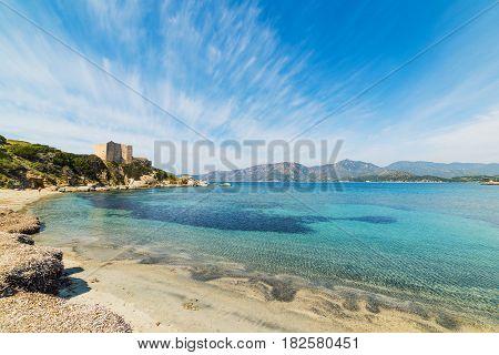 Fortezza Vecchia beach in Villasimius in Sardinia