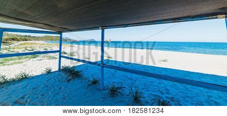 a porch in Cea beach in Sardinia