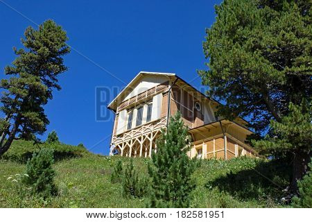 The Kings House at the mountain Schachen in Bavaria