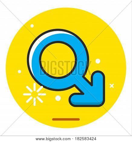 Gender man symbol icon illustration vector design