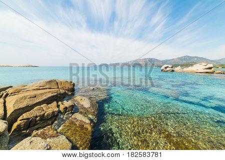 Cloudy sky over Spiaggia del Riso Sardinia