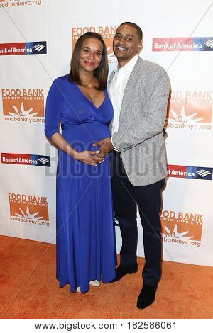 NEW YORK-APR 19: Mia Johnson (L) and Chef Joseph 'JJ' Johnson attend the Food Bank for New York City's Can-Do Awards Dinner 2017 at Cipriani's on April 19, 2017 in New York City.