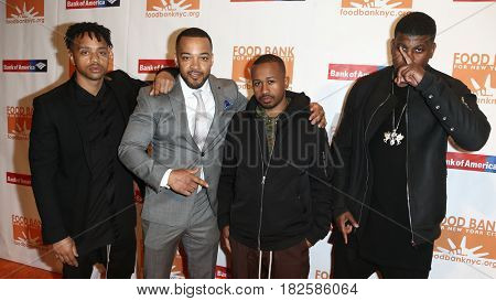 NEW YORK-APR 19: (L-R) Pierre Serrao, Lester Walker, Malcolm Livingston II, Jon Gray of Ghetto Gastro at the Food Bank for New York City's Can-Do Awards Dinner 2017 on April 19, 2017 in New York City.
