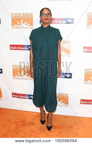 NEW YORK-APR 19: Actress Joy Bryant attends the Food Bank for New York City's Can-Do Awards Dinner 2017 at Cipriani's on April 19, 2017 in New York City.