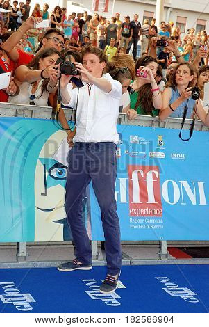Giffoni Valle Piana Sa Italy - July 26 2013 : Eddie Redmayne at Giffoni Film Festival 2013 - on July 26 2013 in Giffoni Valle Piana Italy