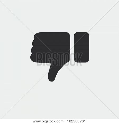 thumbs down icon isolated in white background .