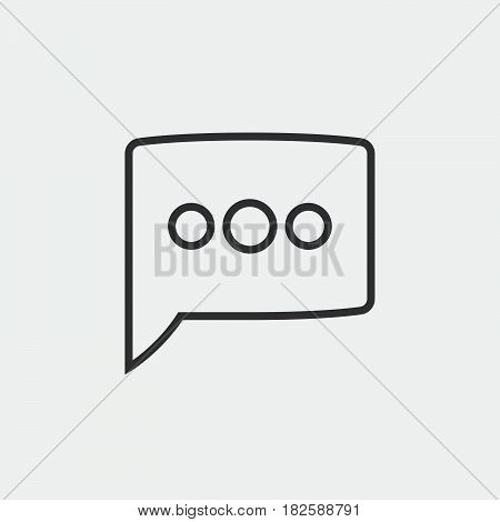 message icon isolated in white background .