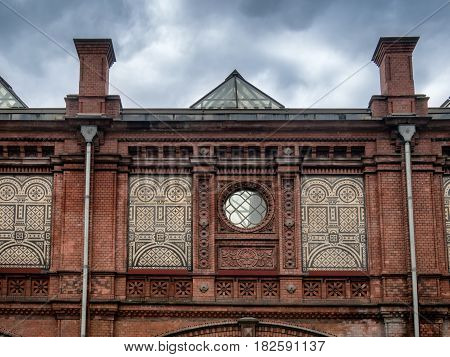 Facade of Hackescher Markt Railway Station (1882) Berlin Germany