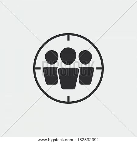 target audience icon isolated on white background .