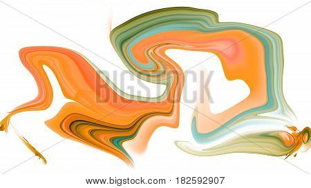 Colorful psychedelic liquefied background looks like painting