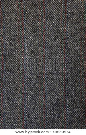 Gray wool textile