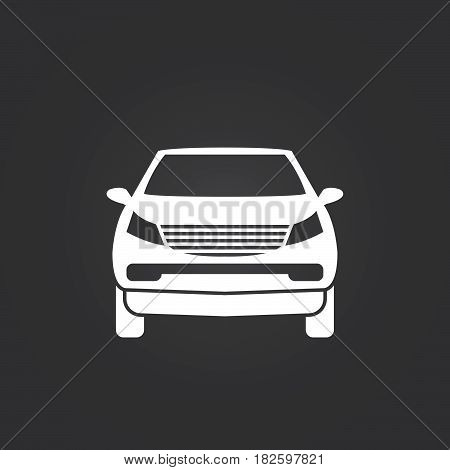 crossover suv icon isolated on white background .