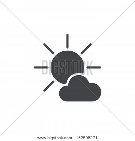 Mostly Sunny weather Icon isolated on white background .