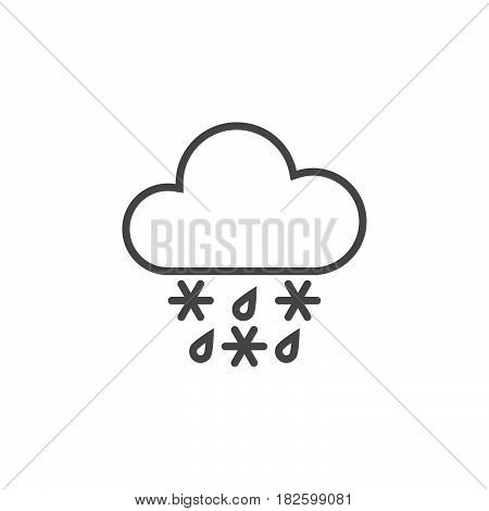 sleet weather icon isolated on white background .