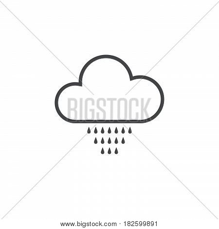 Drizzle weather icon isolated on white background .