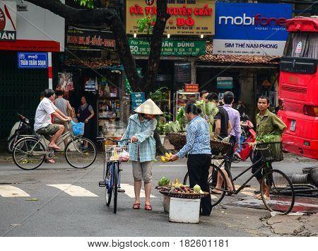 Street At Old Town In Hanoi, Vietnam