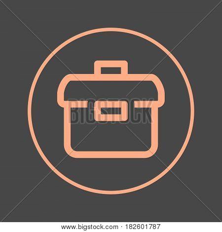 Briefcase circular line icon. Portfolio round colorful sign. Flat style vector symbol
