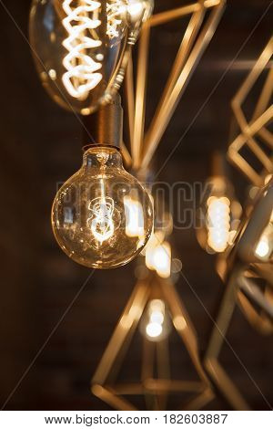 Incandescent Retro Lamps In A Modern Style. Edison Lamp