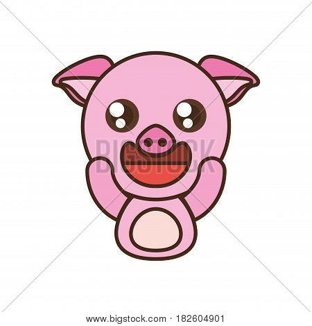 pig baby animal kawaii design vector illustration eps 10