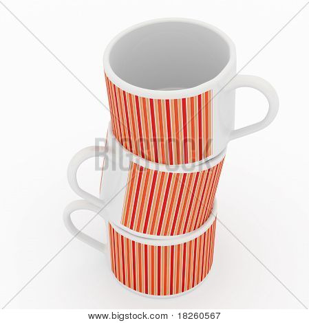 colored cups