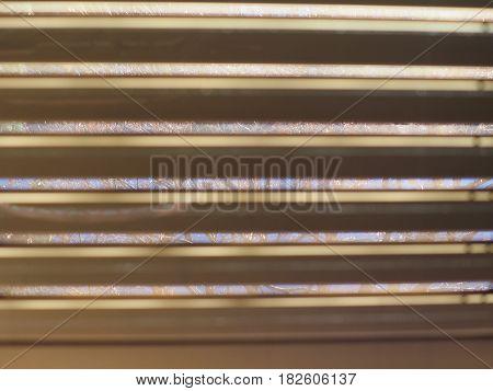 Sun Shining Through Window Blind