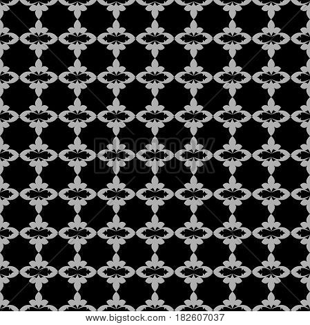 Seamless Dark Background With Small Bright Pattern Vintage. Classic