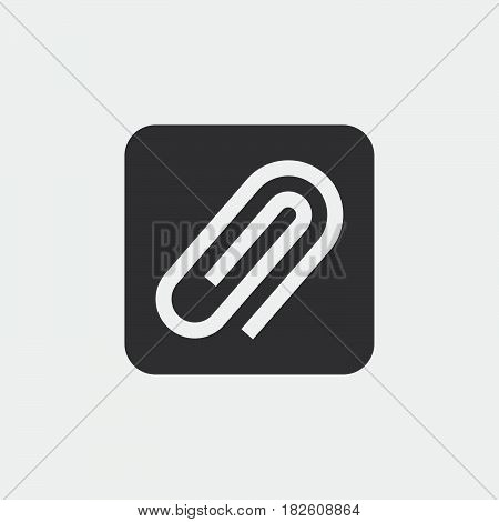 Attachment icon isolated on white background .