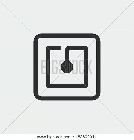 nfc icon isolated on white background .