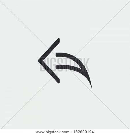 reply icon isolated on white background .