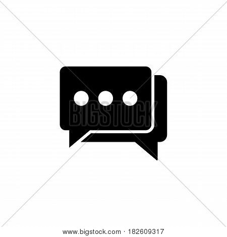 Social engagement solid icon, seo and development, Speech bubbles sign, a filled pattern on a white background, eps 10.