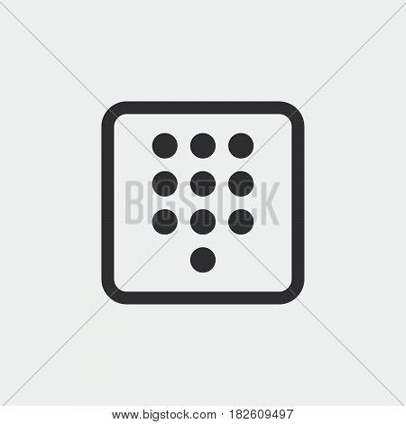 dialpad icon isolated on white background .