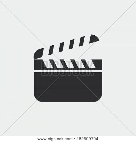 Clapper Board icon isolated on white background .