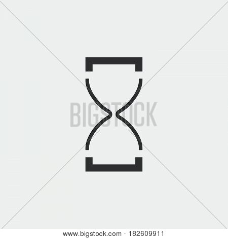 hourglass icon isolated on white background .