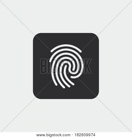 fingerprint icon isolated on white background .