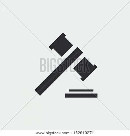 gavel icon isolated on white background .