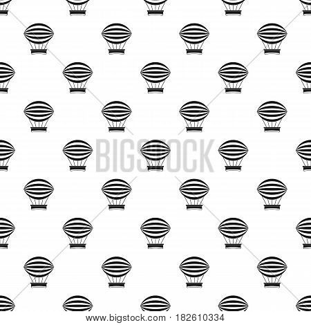 Striped retro hot air balloon pattern seamless in simple style vector illustration
