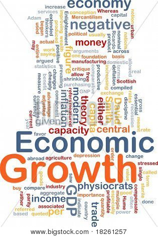Background concept wordcloud illustration of economic growth poster