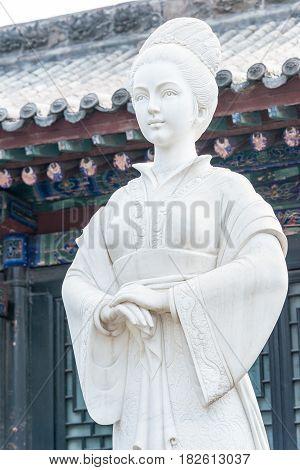 Shanxi, China -  Aug 30 2015: Susan Statue At Susan Prison. A Famous Historic Site In Hongdong, Shan