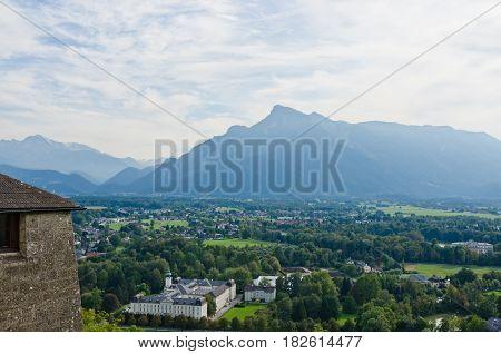 Salzburg. Cityscape of Slazburg town Austria, Europe.