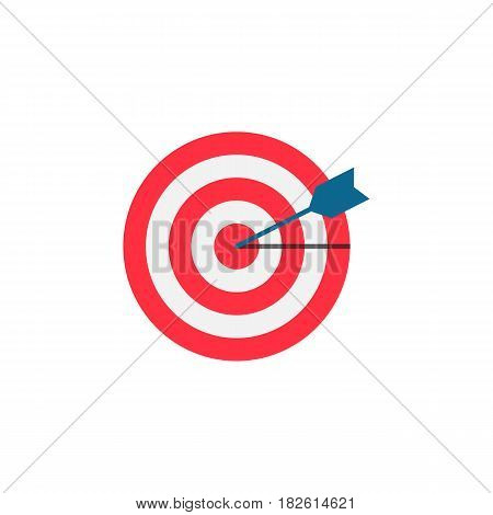 Target keyword flat icon, seo and development, Darts sign, a colorful solid pattern on a white background, eps 10.