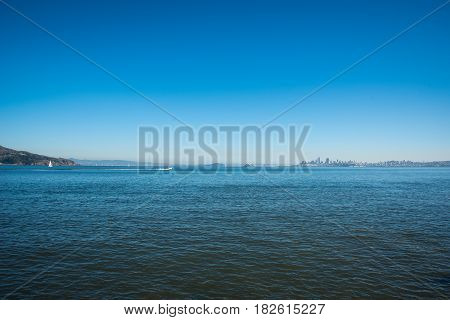 San Francisco Bay Area Landscape over pacific ocean