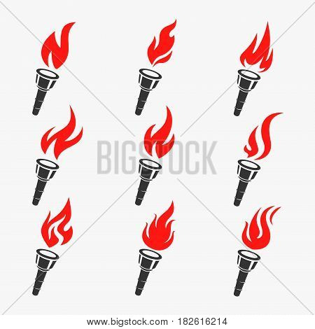 Torch Symbol Set Vector Illustration eps 8 file format