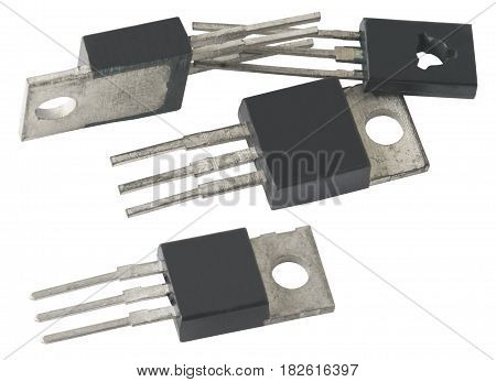 the different microcircuit on a white background