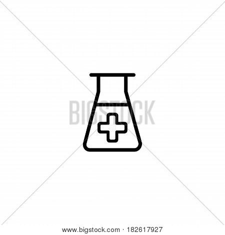 lab icon. vector illustration isolated on white background. Medical substance symbol. Eps 10
