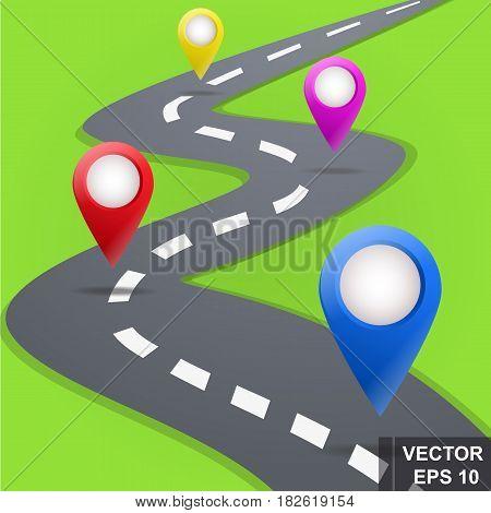 Road. Navigation. Map. Directions. Unfamiliar Terrain. For Your Design.